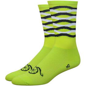 "DeFeet Aireator 6"" Cycling Socks yellow"